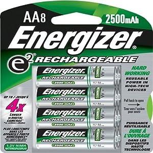 Amazon.com: Energizer Rechargeable AA NiMH Batteries, 8