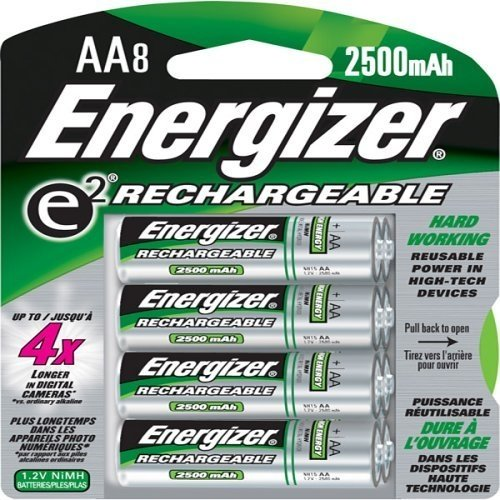 Energizer Rechargeable NiMH Batteries 8 Count