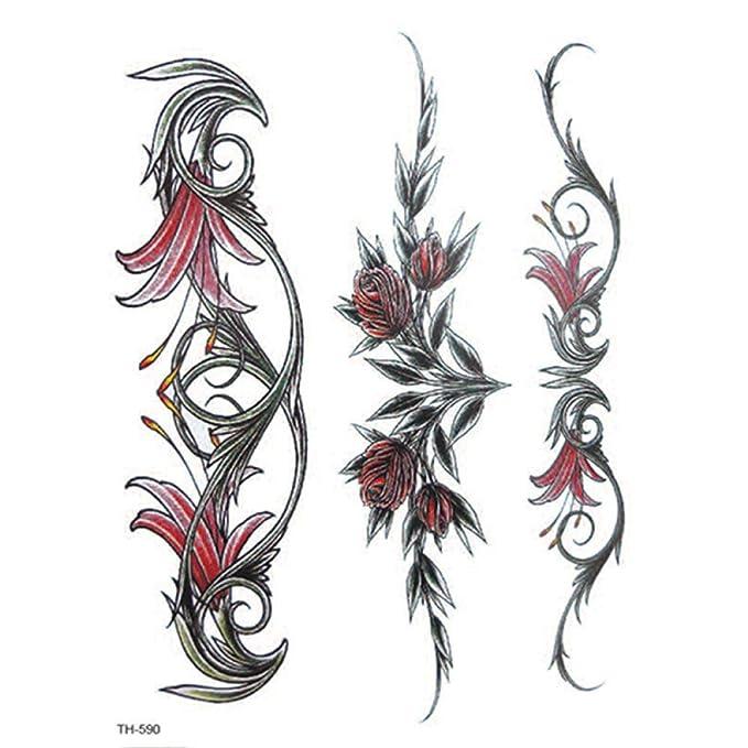 Pegatinas de tatuaje de brazo de flor pegatinas de tatuaje ...