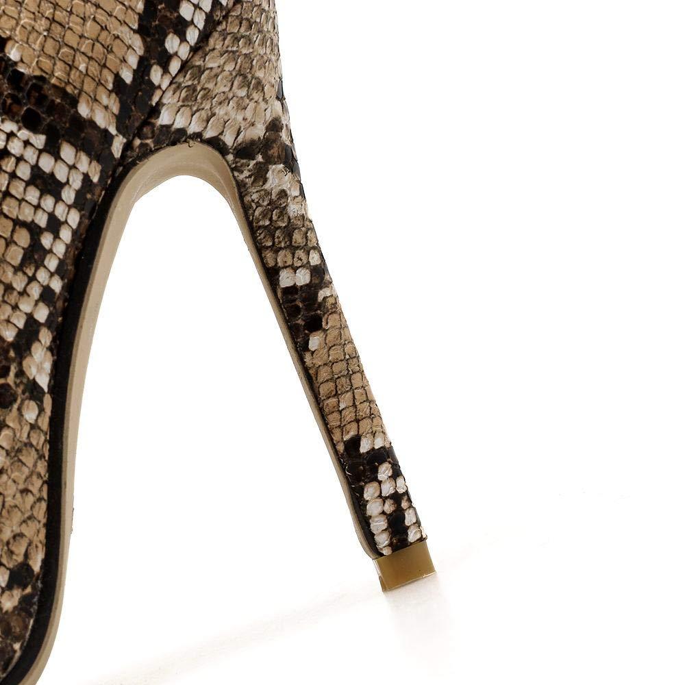 GSAYDNEE GSAYDNEE GSAYDNEE Damenstiefeletten mit hohem Absatz und Schlangenaufdruck mit spitzem Kopf (Farbe   Snake Größe   41) 43f89a