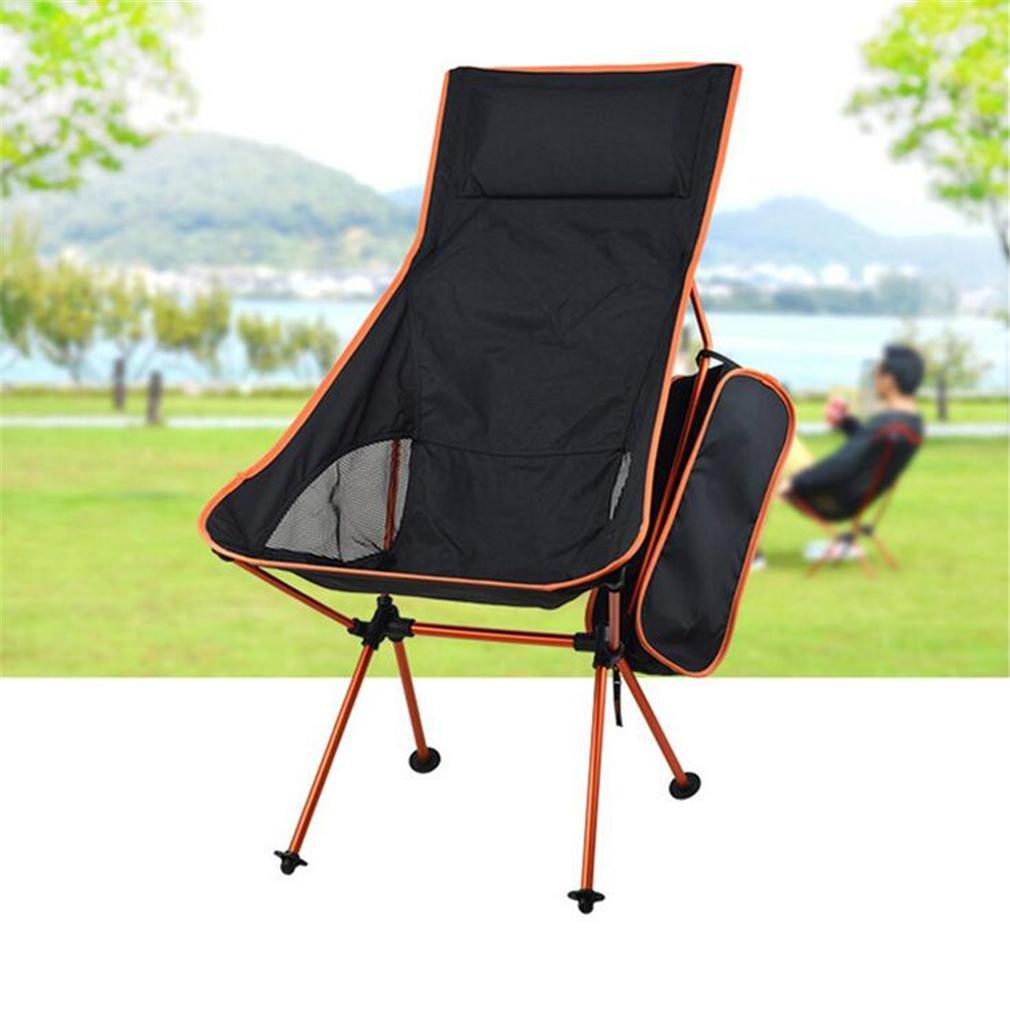 TTYY Klappstuhl im Freien Verlängern 4PCS Mond Stuhl mit Kissen Angeln Camping (bitte hinterlassen Sie eine Nachricht, wenn Sie eine andere Farbe benötigen)