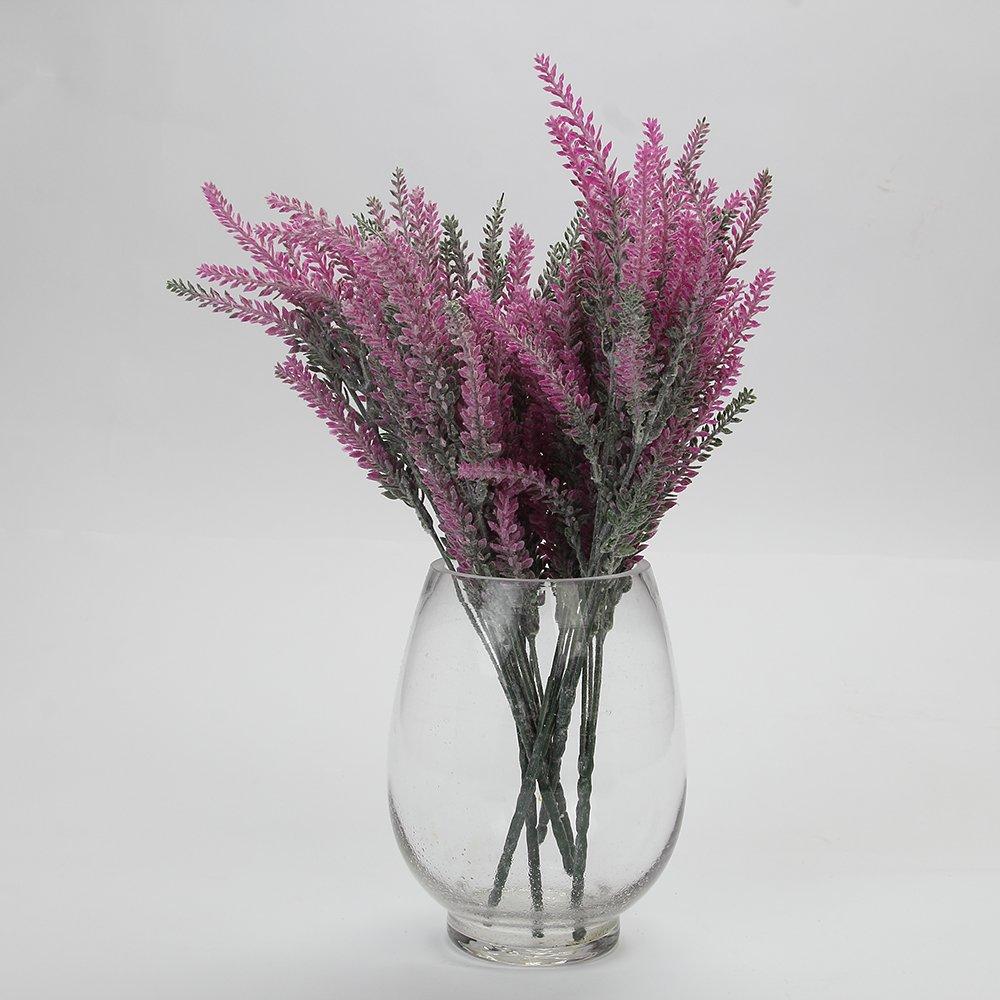 Colorfulworld 10個Artificalラベンダー花、FAKEラベンダーVividリーフのブーケDIYホームオフィスパーティーウェディングデコレーション – 4 Colors Available ピンク B0746H723N ピンク ピンク