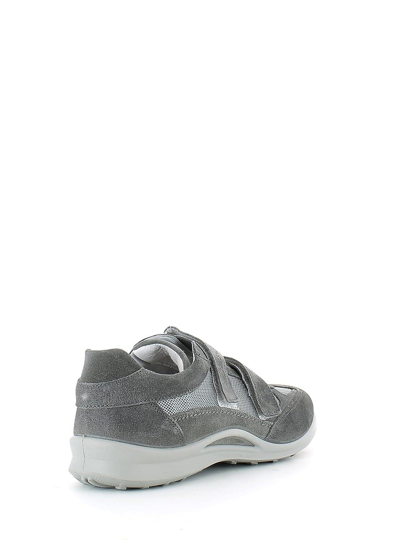 Grisport Sneaker con Strappi in camoscio Grigio e Tessuto