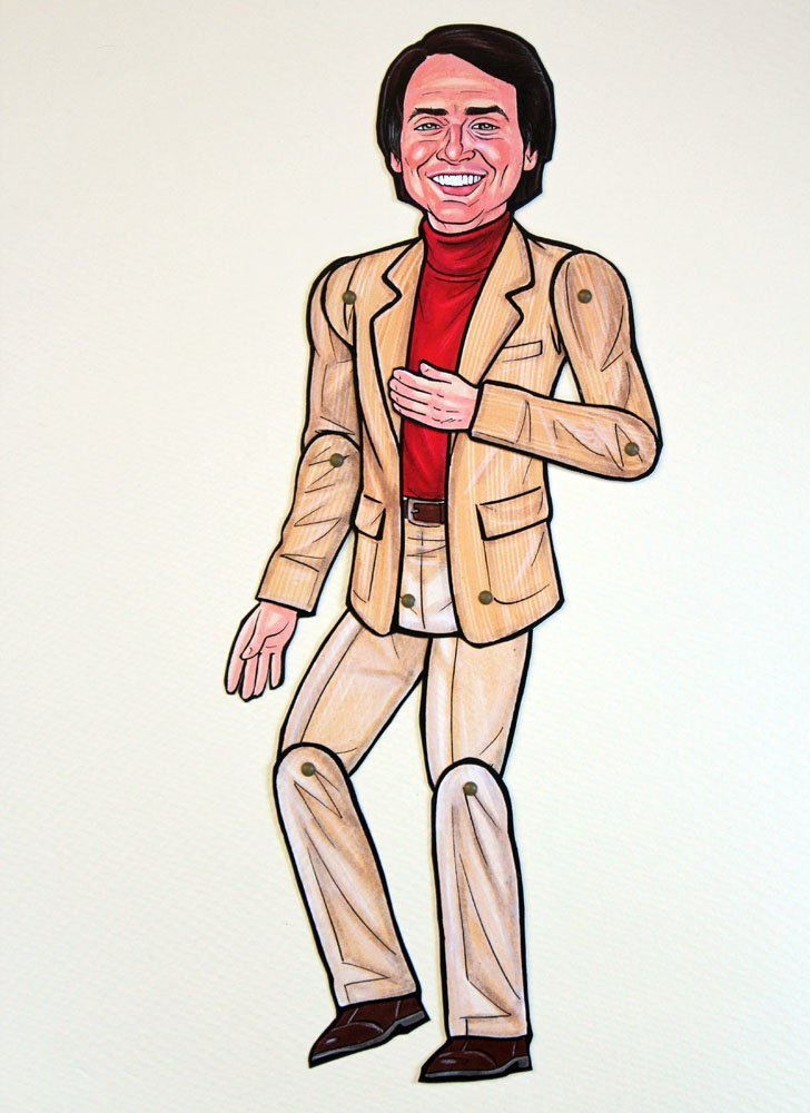 Carl Sagan Articulated Paper Doll