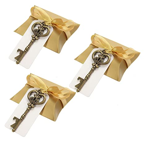 Compra RENCALO 3Pcs Vintage Key Bottle Opener Llavero Boda ...