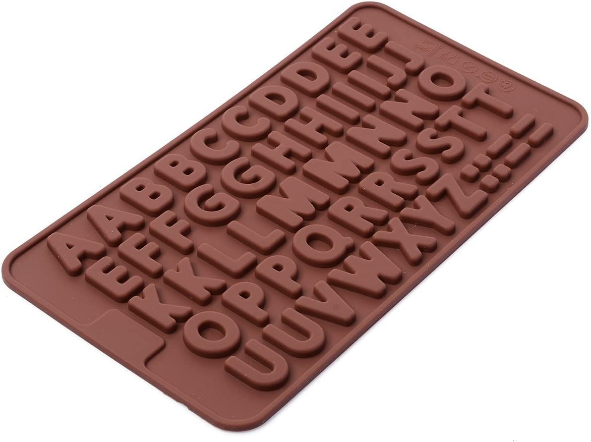 1pcs 26 anglais alphabet Silicone Chocolate Mold À faire soi-même Handmade Soap Ice Mold