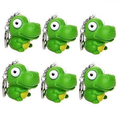 Amazon com: SUSHAF 6 Pcs Dinosaur Keychains Stress Relief
