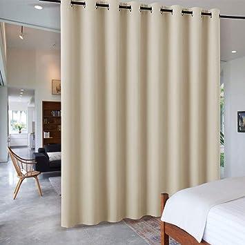 RYB HOME Wohnzimmer Raumteiler Verdunklungsvorhänge   Blickdicht Vorhang  Mit Ösen Trennwand Schiebegardine Für Schlafzimmer Büro Energiespar