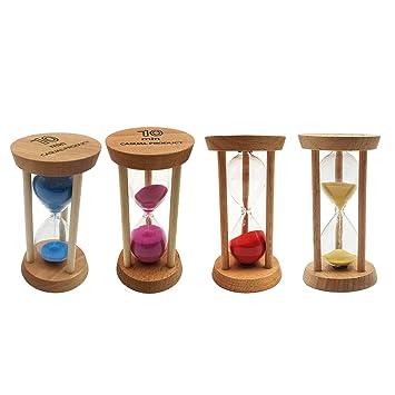 Baoblaze 10 Minutes Wooden Frame Sand Egg Timer Hourglass Kitchen