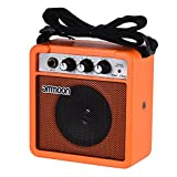 ammoon Guitar Amplifier Mini 5 Watt 9V Battery Powered Amp Speaker for Acoustic/ Electric Guitar Ukulele High-Sensitivity with Volume Tone Control