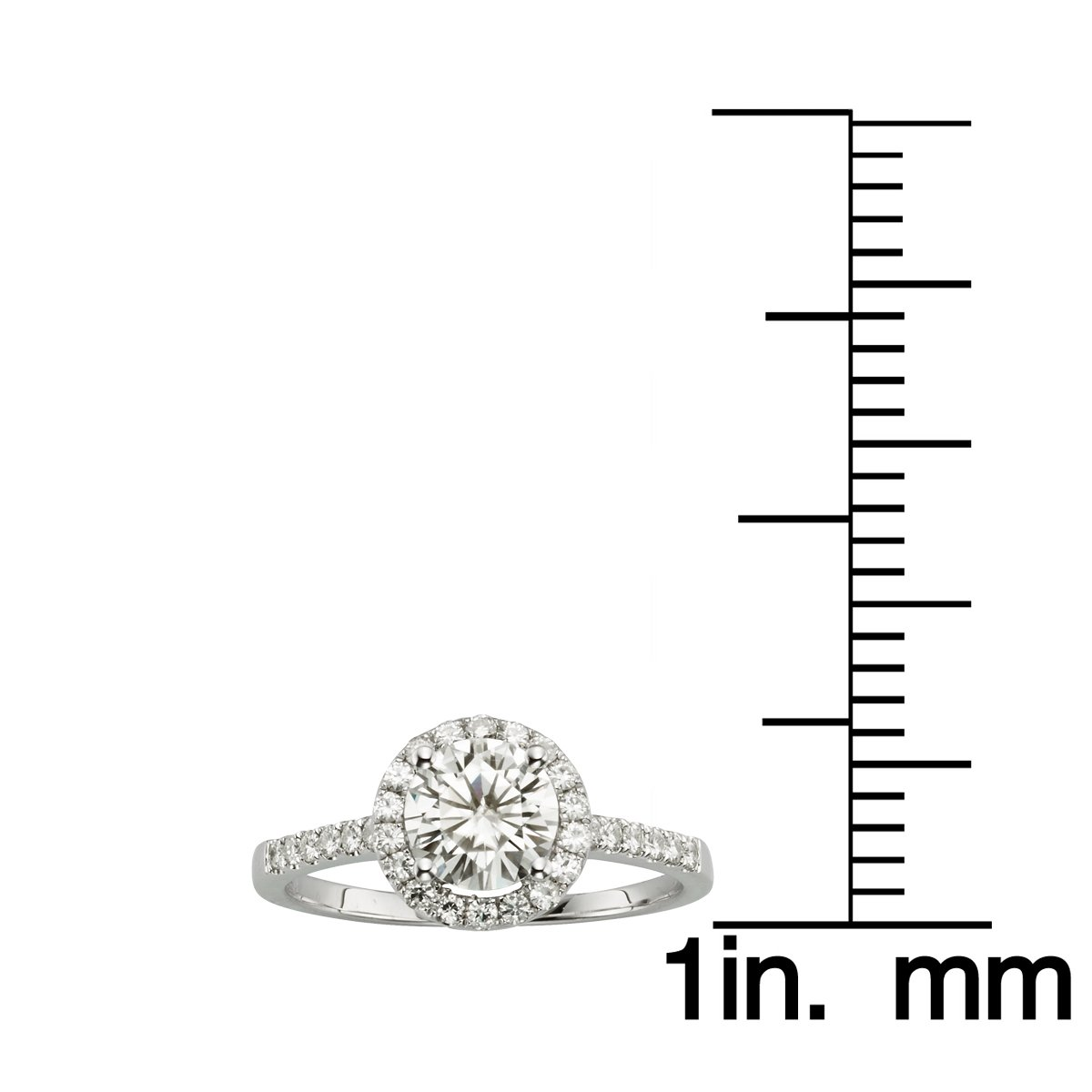 Forever Brilliant 6.5mm Moissanite Engagement Ring Size 5, 1.30cttw DEW By Charles & Colvard by Charles & Colvard (Image #4)