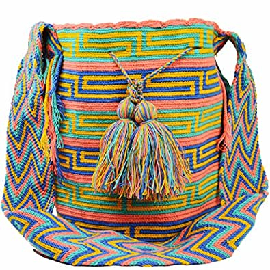 100% Authentic LARGE Handmade Wayuu Mochila Bag Colombian Finest