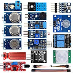 This is an excellent collection of sensors and components to use with Arduino and Raspberry Pi. It was specially designed for smart home. It comes with 16 sensor modules and female to female jumper wires, everything was proper...