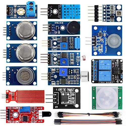 KOOKYE 16 in 1 Smart Home Sensor Modules Kit for Arduino Raspberry Pi DIY ()
