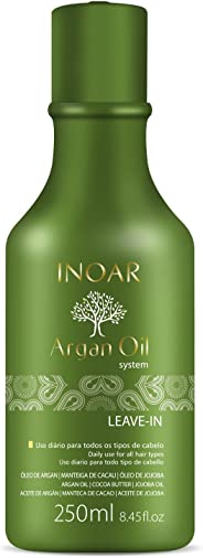 Leave-In Argan Oil Hidratante Antifrizz 250ml, Inoar