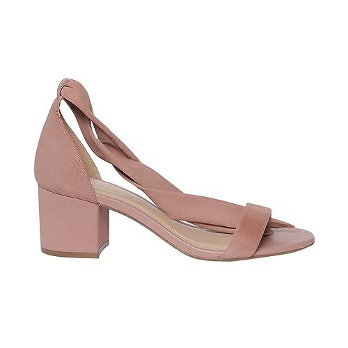 AREZZO - Sandalias de Vestir para Mujer Rosa Size: 39 EU: Amazon.es: Zapatos y complementos