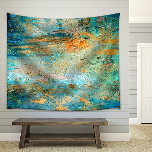 Abstract Oil Paint Texture Fabric Wall