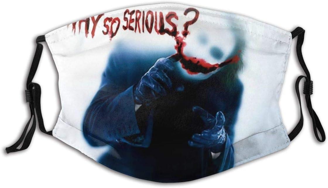 GABRI Mundschutz Gesichtsschutz Halloween Clown Joker Festival Nacht Antistaub Waschbar und Wiederverwendbar Bandana mit Filtern