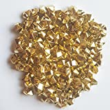 ElE&GANT 1LB(Approx 755Pcs) Plastic Metallic Gold Nuggets Table Scatter Decoration Vase Filler (Metallic Golden)