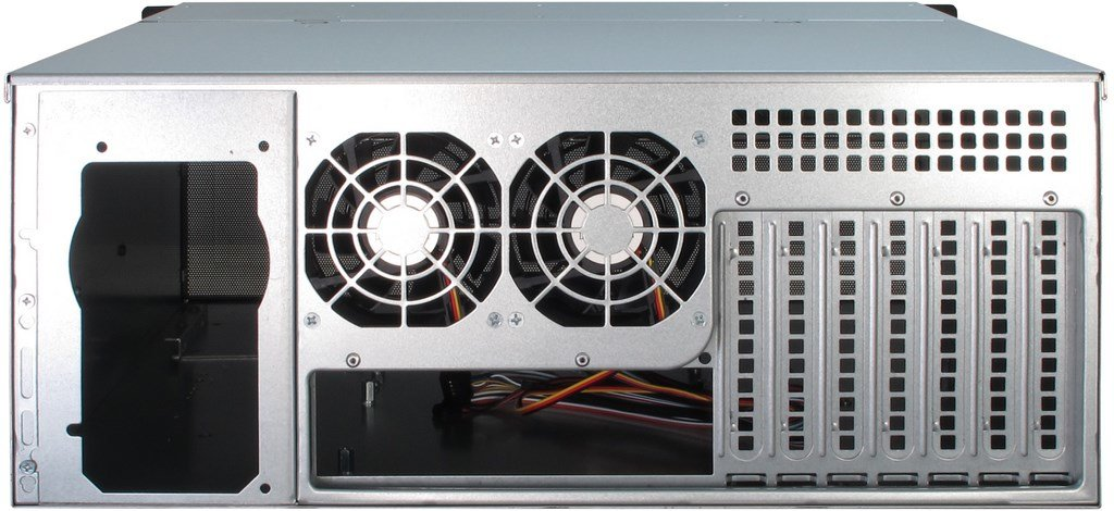 Plata Caja de Ordenador Estante, Servidor, Acero, Negro, Plata, ATX,EATX,EEB,Mini-ITX,uATX, 4U Inter-Tech 4U-4408 Estante Negro