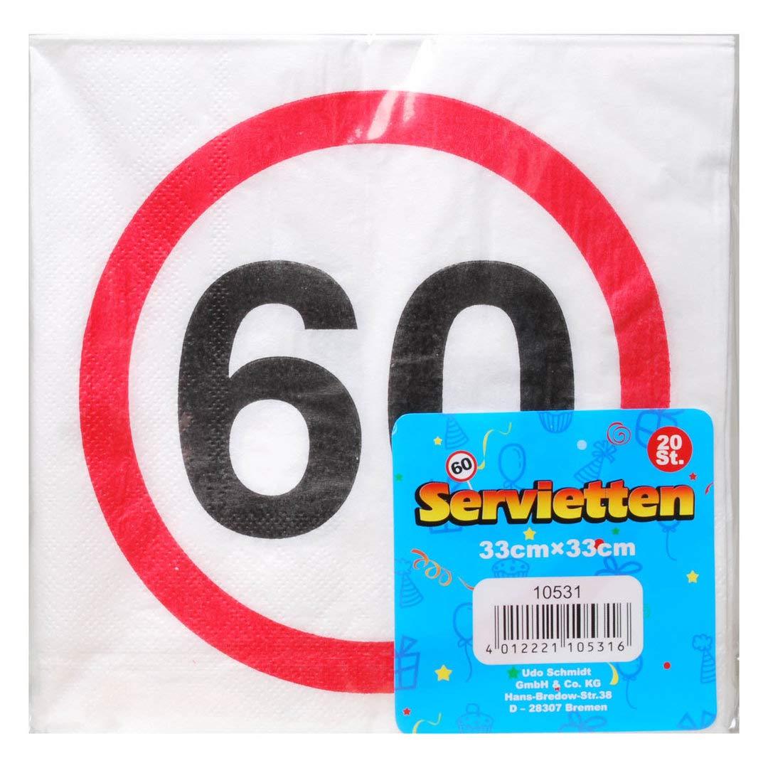 UDO Schmidt GmbH Servilletas 60 Decoración 60 cumpleaños ...