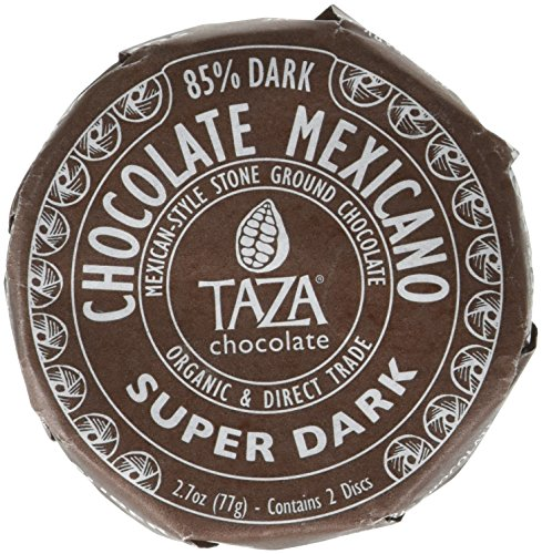 Taza Organic Chocolate Mexicano Super Dark Disc 85% Dark, 2.7 oz (Chocolate Super)