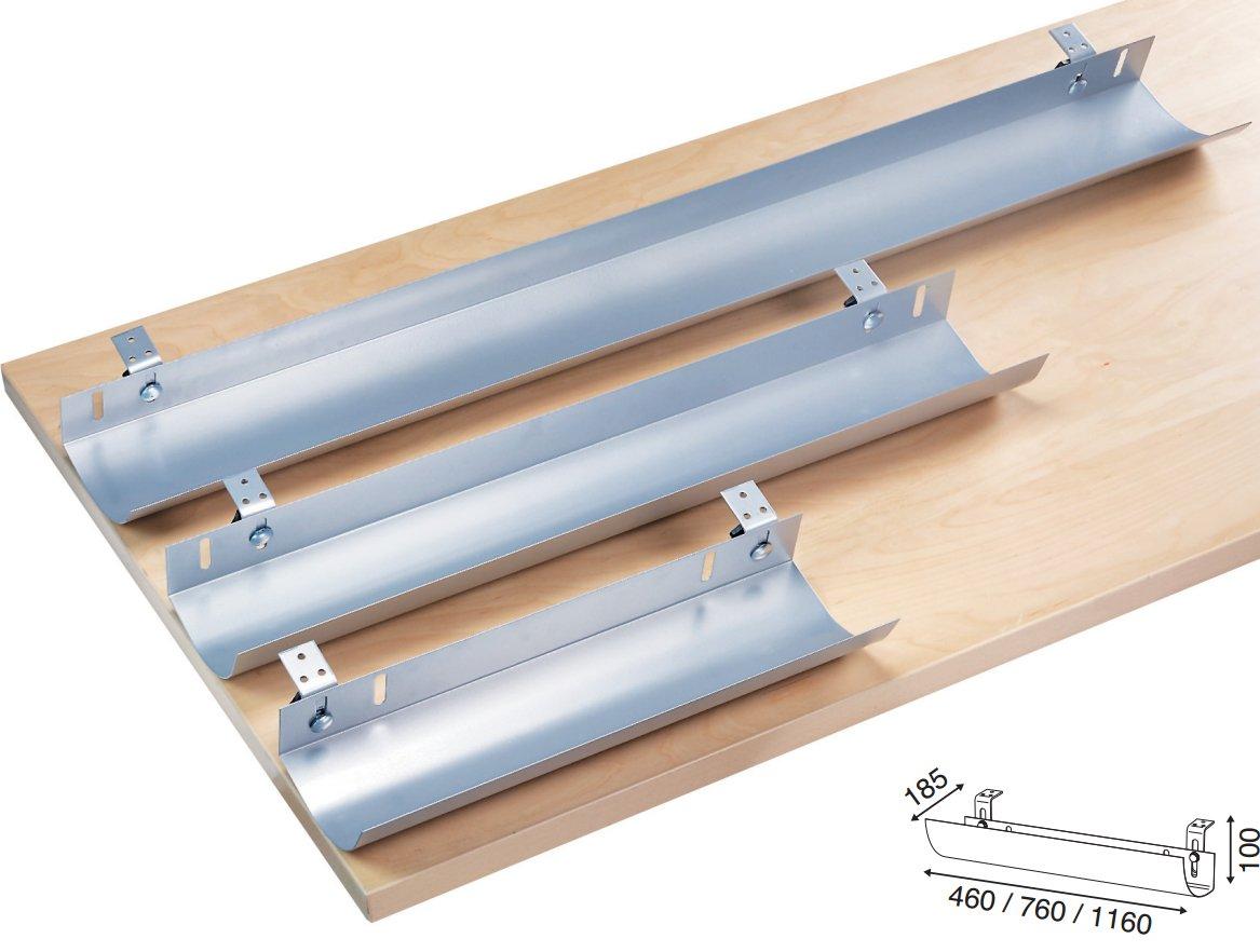 Ergobasis Kabelwanne abklappbar 1160 mm lang für Schreibtische ...