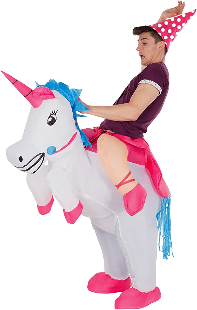 Paseo Adulto En Disfraz Inflable De Unicornio Caballo Mágico ...