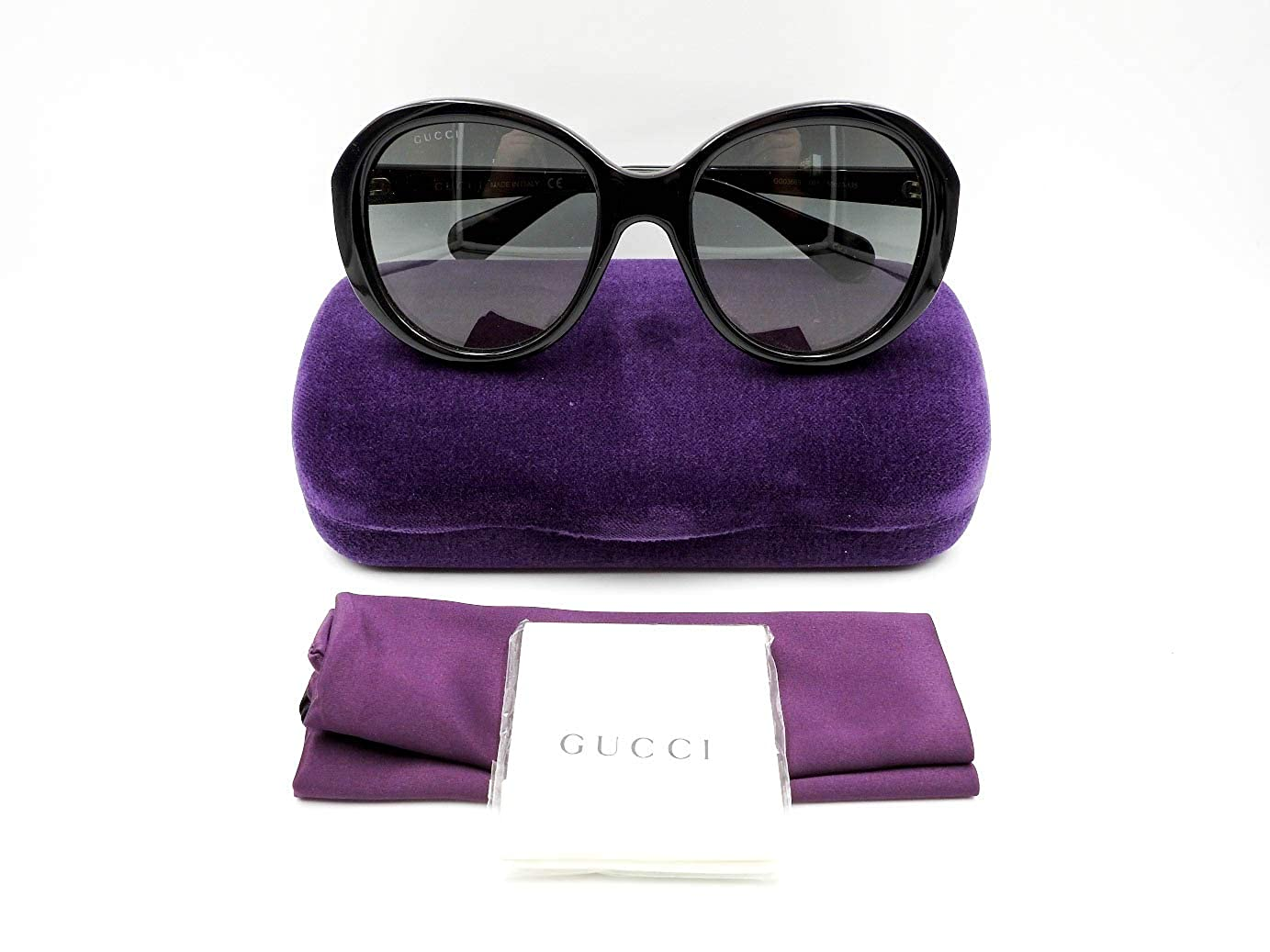 dc7d490d9d6 Amazon.com  Gucci GG0368S 001 Black GG0368S Square Sunglasses Lens Category  2 Size 56mm  Gucci  Clothing