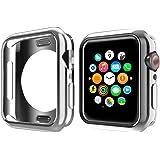 NN.ORANIE コンパチブル Apple Watch Series 4 ケース 44mm メッキ TPU ケース 耐衝撃性 超簿 脱着簡単 保護ケース アップルウォッチ カバー Apple Watch 4に対応 (シルバー/44mm)