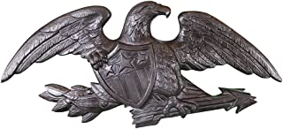 product image for Montague Metal Products Deluxe Swedish Iron Flagpole Wall Eagle, 23-Inch