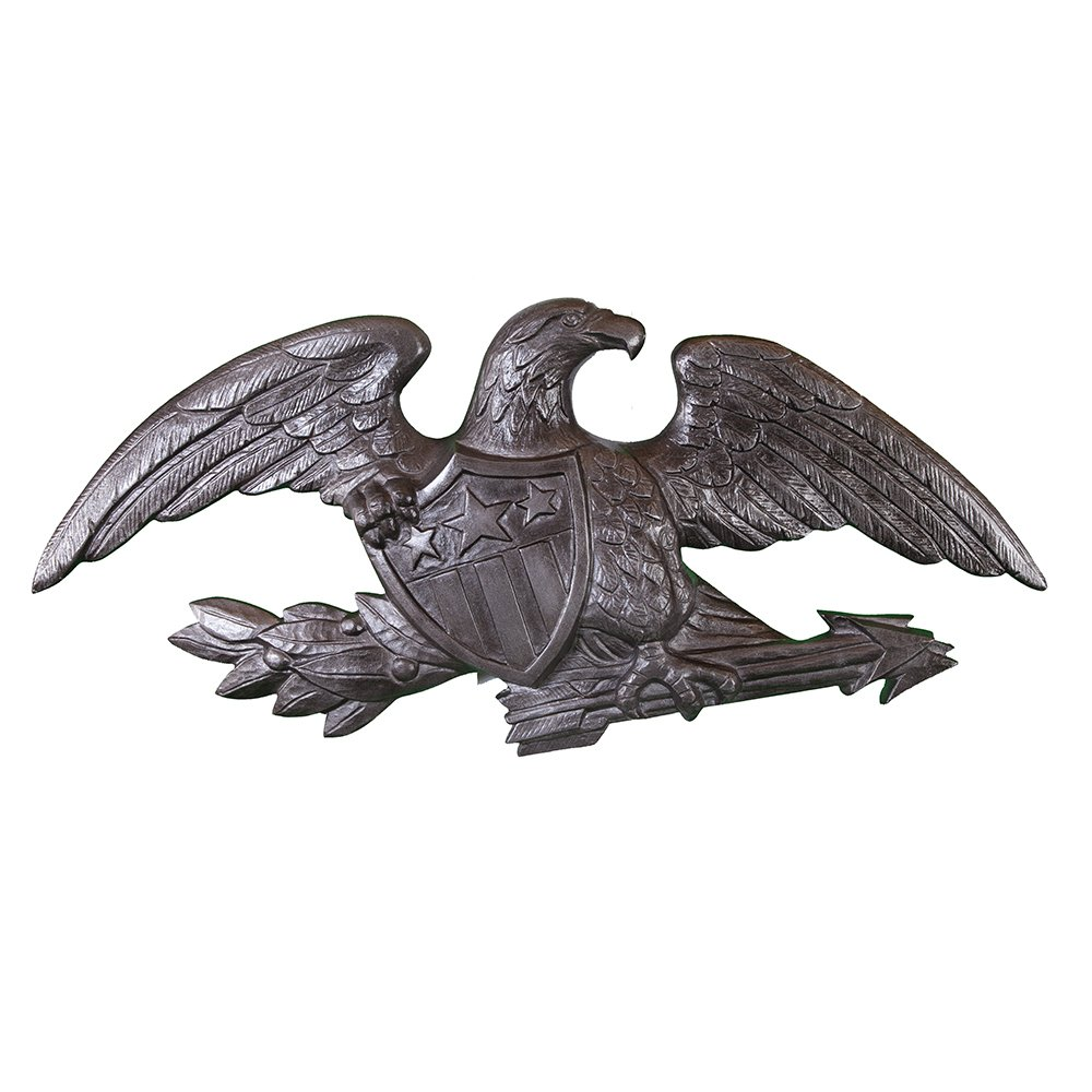 Montague Metal Products Deluxe Swedish Iron Flagpole Wall Eagle, 23-Inch