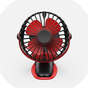 Fan 360 Degree All-Round Rotation Fan Rechargeable 4000mAh Cooler Cooling Mini USB Fan 4 Speed USB Desktop Clip Fan Mini Portable Cooling Fan