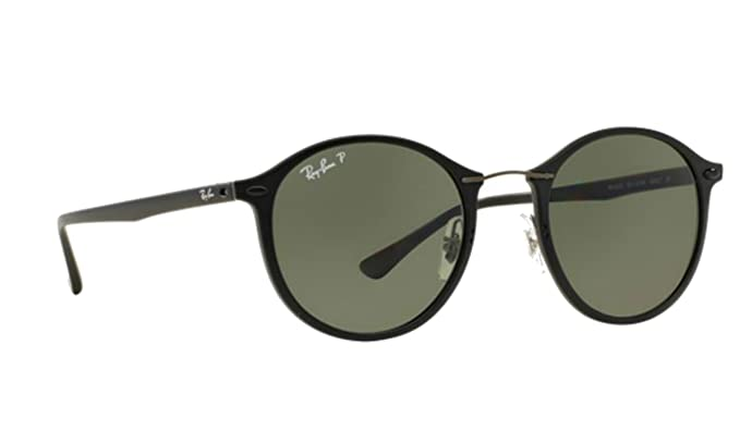 1f50b2a259 Ray-Ban Matte Black Round Polarized Sunglasses RB 4242 601S9A 49mm + SD Gift