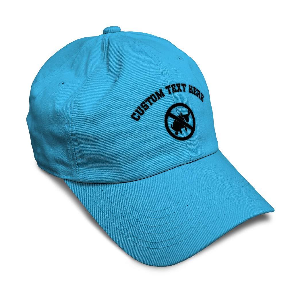 Custom Soft Baseball Cap No Bull Poop Allowed B Embroidery Twill Cotton