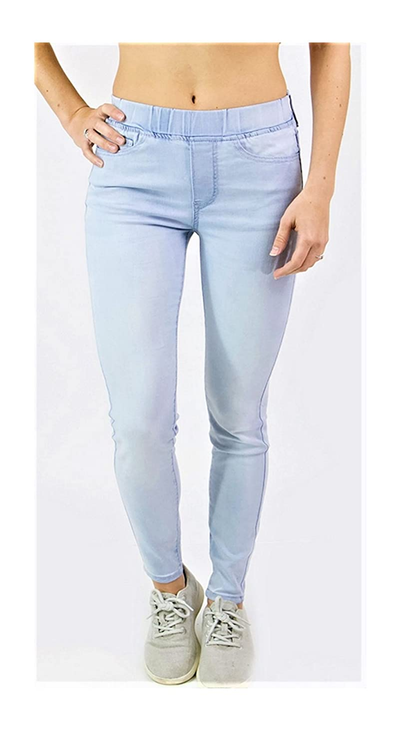 b35cfa6e7d4c3 Grace and Lace Women's Light Blue Skinny Jeans Soft Stretch Pull On Jeggings  at Amazon Women's Jeans store