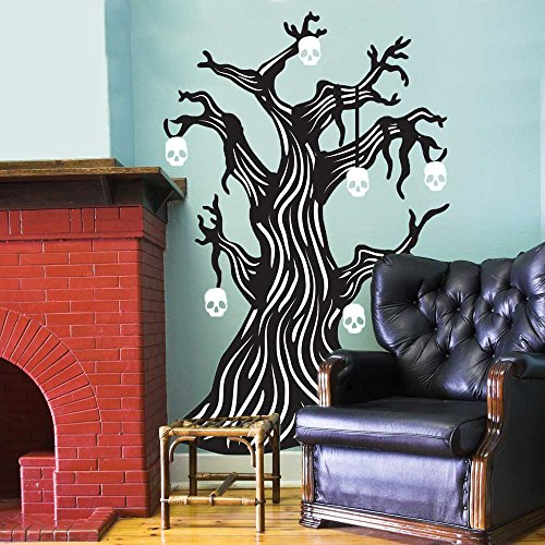 Twisted Bone Tree Wall Decal Kit- Halloween Wall Decal By (Story Behind Halloween Day)