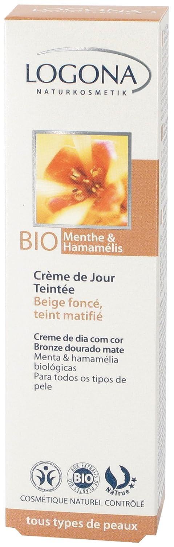 Logona Organic Mint Witch Tinted Day Cream, Hazel Golden Bronze Matte, 1.04 Ounce