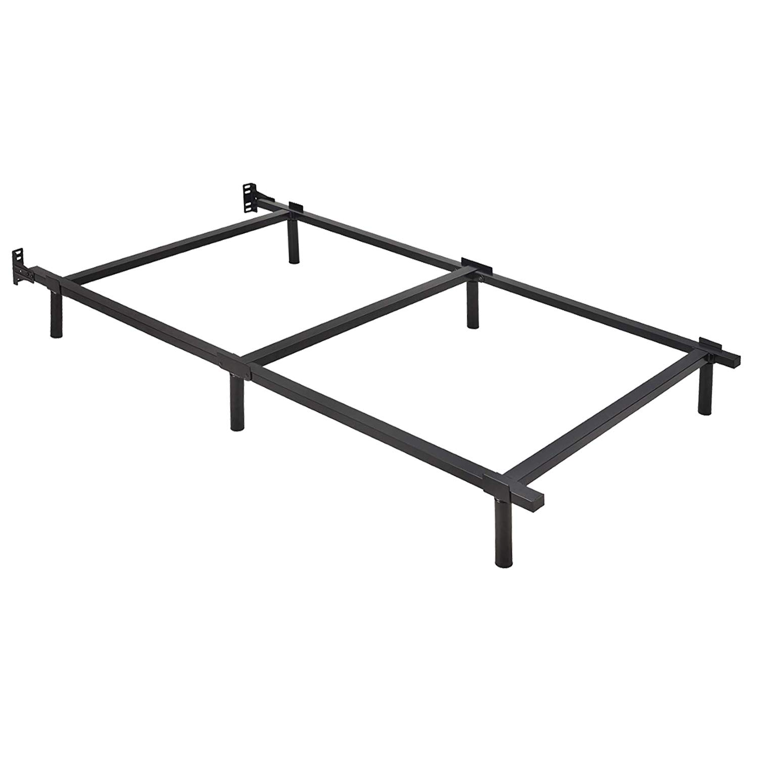 ZIYOO 7 inch Adjustable Metal Bed Frame Base for Box Spring, Full/Queen/King/Cal King