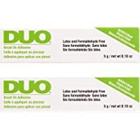 DUO Brush-on Strip Lash Adhesive, Clear, 0.18oz x 2 pack