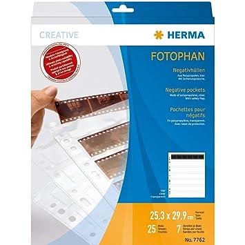 39a254d05 Herma 7762 - Fundas para negativos (7 x 6 tiras, pack de 25 unidades):  Amazon.es: Oficina y papelería