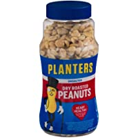 4-Pack Planters Unsalted Dry Roasted Peanuts (16 Ounce)