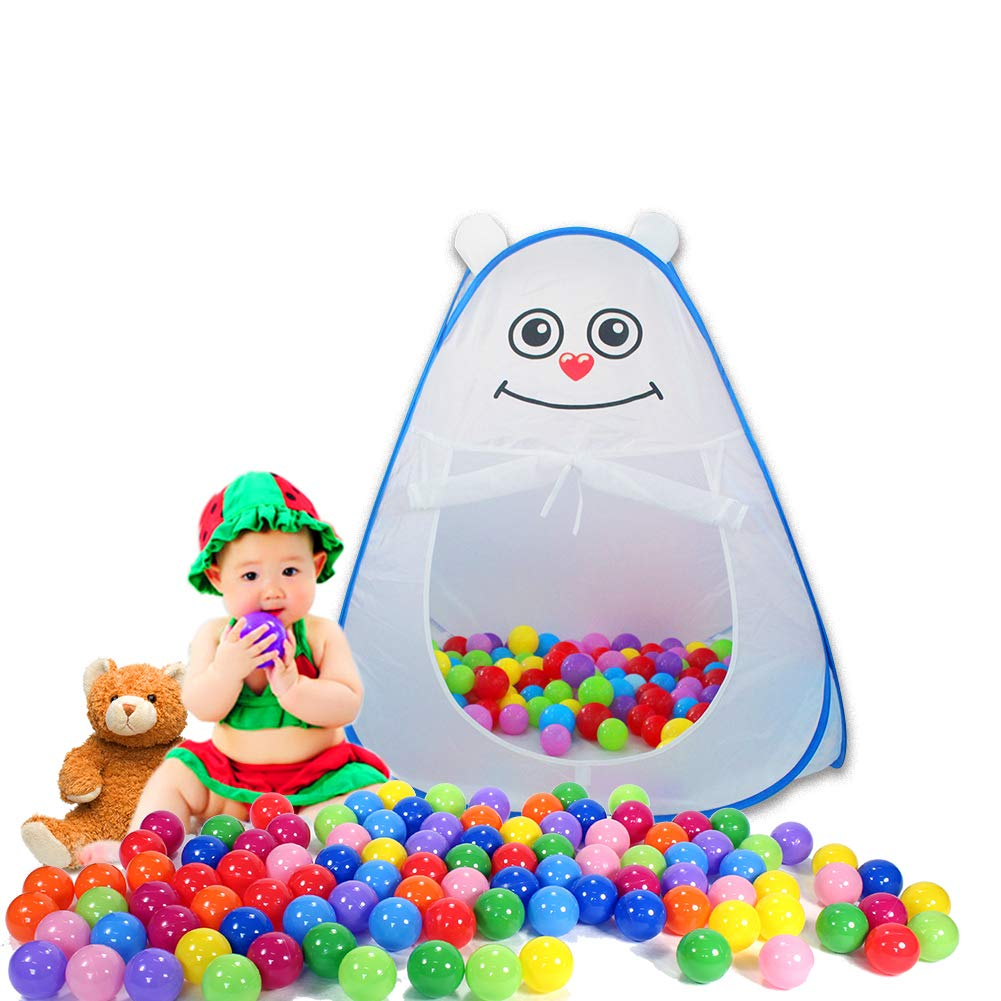 TRAVER DREAM Kids Ball Pit Play Tent Large Pops up Cartoon Toddler Ball Pool Tent Tent for Children Girls Boys for Indoor Outdoor Baby Play Tent Zipper Storage Bag Balls Not Included