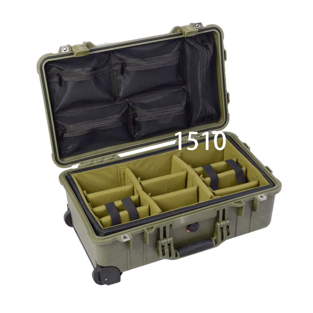 A-MoDe IN1510 ODGreen パッド入り仕切り + 蓋1519C 蓋オーガナイザー Pelican1510用 (ケースなし) 1510setC-ODG B07NPHQS4J