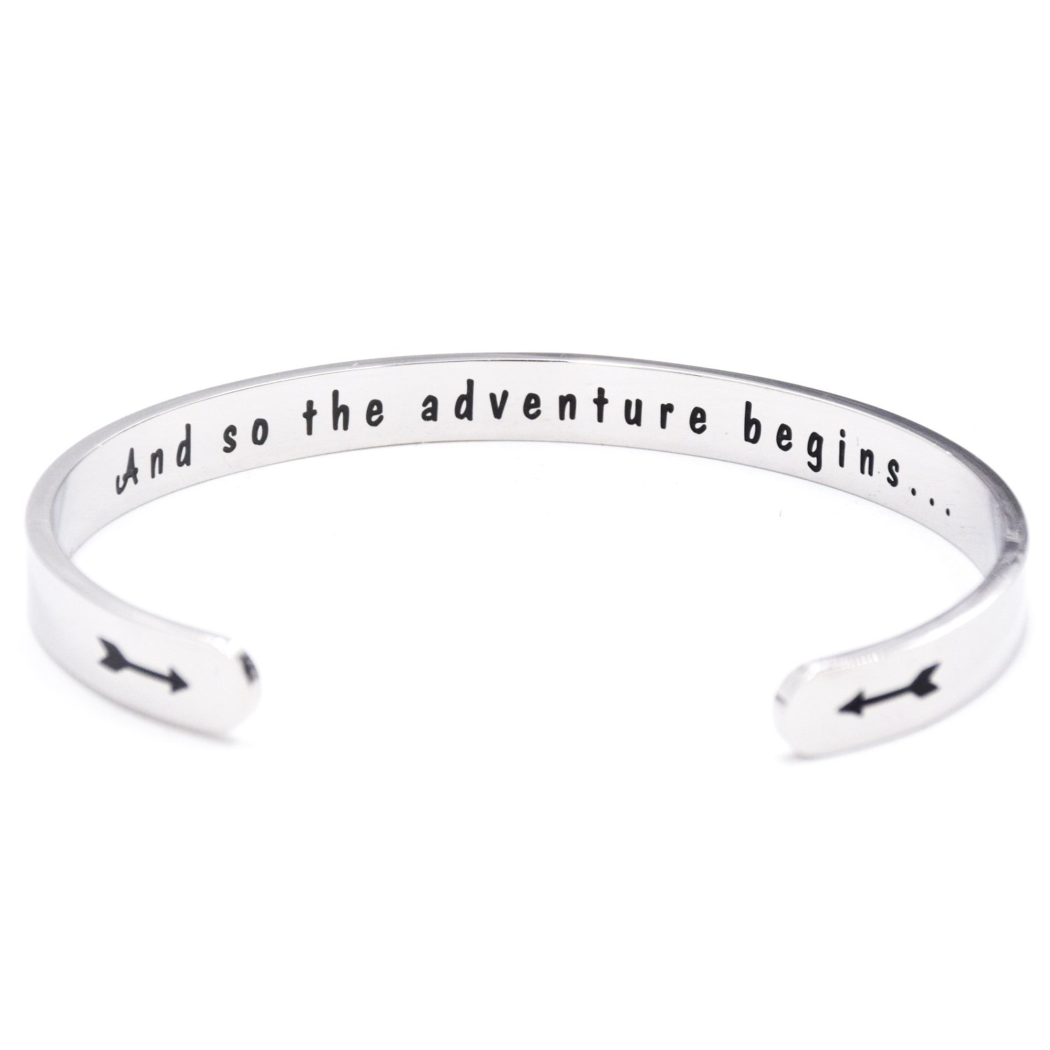 LParkin Class of 2018 2019 Gift And So the Adventure Begins Cuff Bracelet Graduation Gift (Cuff)