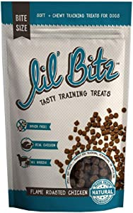 Lil' Bitz Flame Roasted Chicken Training Treats (4 oz)