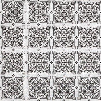 Magic Cover Black White Mosaic Tile Pattern Non Adhesive Gri