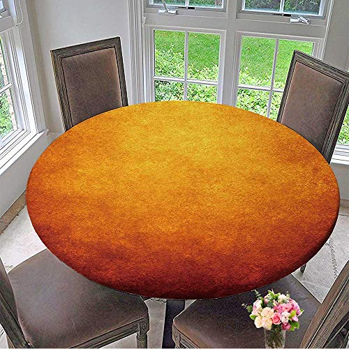 - Mikihome Round Tablecloth Flame Paint Background for Kitchen 63