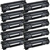 10 Inkfirst® Toner Cartridges CF283A (83A) Compatible Remanufactured for HP CF283A Black LaserJet Pro MFP M127fn MFP M127fw MFP M125a MFP M125rnw MFP M125nw M201dw M201n MFP M225dn MFP M225dw