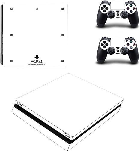 ADATECH VINILO compataible con Playstation 4 Slim vinilo blanco pegatina para consola y dos mandos.: Amazon.es: Videojuegos